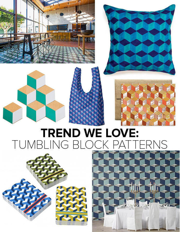 Trends We Love Tumbling Block Patterns