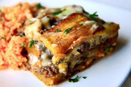 Food and Drink Latin Inspired Thanksgiving Recipe 5- Pasteloacuten de Plaacutetanos