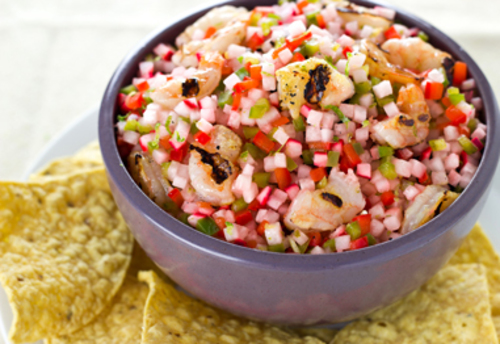 Food and Drink Latin Inspired Thanksgiving Recipe 3 Shrimp Ceviche